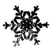Tim Holtz Wood Mounted Stamp - Snowflake 3 H2-1586