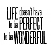 Tim Holtz Wood Mounted Stamp - Wonderful Life H2-2139