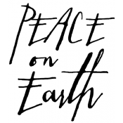 Tim Holtz Wood Mounted Stamp - Written Peace on Earth H2-2439