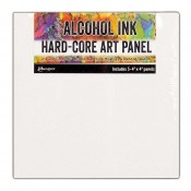 Tim Holtz Alcohol Ink Hard-Core Art Panel: 4x4 Pack TAC66897