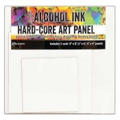 TH Alcohol Ink Hard-Core Art Panel: Square Pack TAC66927