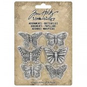 Tim Holtz Idea-ology Adornments: Butterflies - TH93689