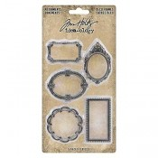 Tim Holtz Idea-ology Adornments: Deco Frames TH93792