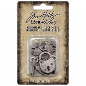 Tim Holtz Idea-ology Adornments: Locks & Keys, Halloween 2021 - TH94162