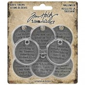 Tim Holtz Idea-ology: Halloween Quote Tokens TH93733