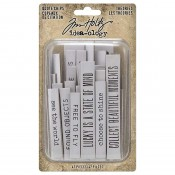 Tim Holtz Idea-ology: Theories Quote Chips TH94045