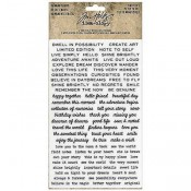Tim Holtz Idea-ology: Tiny Text Remnant Rubs - TH93695