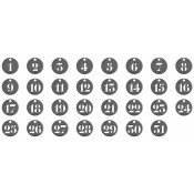 Tim Holtz Idea-ology: Number Tokens - TH93244