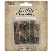 Tim Holtz Idea-ology: Type Chips TH94031