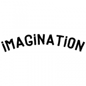 Tim Holtz Wood Mounted Stamp - Imagination E3-3006