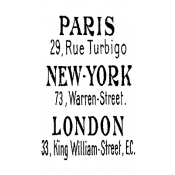 Tim Holtz Wood Mounted Stamp - Paris New York London J1-1671