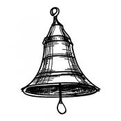 Tim Holtz Wood Mounted Stamp - Sketch Bell J1-2932