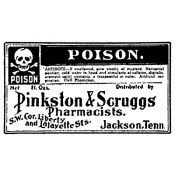 Tim Holtz Wood Mounted Stamp - Poison J2-1451