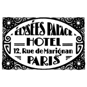 Tim Holtz Wood Mounted Stamp - Paris Hotel J1-1688