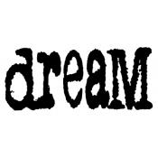 Tim Holtz Wood Mounted Stamp - Dream J3-1076
