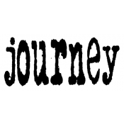 Tim Holtz Wood Mounted Stamp - Journey J3-1078