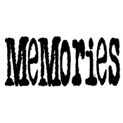 Tim Holtz Wood Mounted Stamp - Memories J3-1079