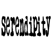 Tim Holtz Wood Mounted Stamp - Serendipity J3-1080