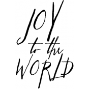 Tim Holtz Wood Mounted Stamp - Written Joy to the World K2-2440