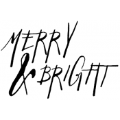 Tim Holtz Wood Mounted Stamp - Written Merry & Bright K2-2441