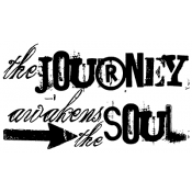 Tim Holtz Wood Mounted Stamp - Journey Awakens K3-1248