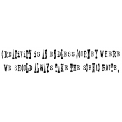 Tim Holtz Wood Mounted Stamp - Endless Journey K4-1084