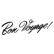 Tim Holtz Wood Mounted Stamp - Bon Voyage K4-1811