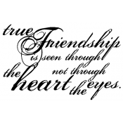 Tim Holtz Wood Mounted Stamp - True Friendship K5-1154