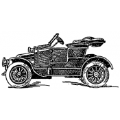 Tim Holtz Wood Mounted Stamp - Auto 5 K5-2851