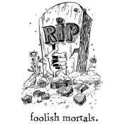 Tim Holtz Wood Mounted Stamp: Foolish Mortals K5-3331
