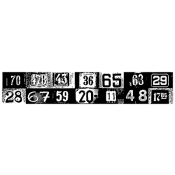 Tim Holtz Wood Mounted Stamp - House Numbers K6-1330