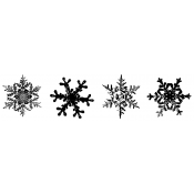 Tim Holtz Wood Mounted Stamp - Snowflake Strip K6-1588
