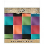 Tim Holtz Idea-ology Kraft Stock: Metallic Jewels TH93781