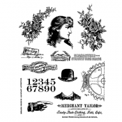 Tim Holtz Cling Mount Stamps - Ladies & Gentlemen CMS268
