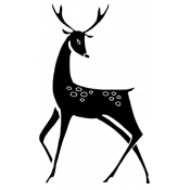 Tim Holtz Wood Mounted Stamp - Styled Reindeer M1-2458