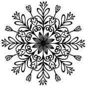 Tim Holtz Wood Mounted Stamp - Swirly Snowflake 5 M2-3113
