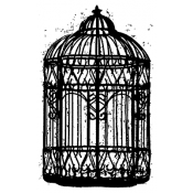 Tim Holtz Wood Mounted Stamp - The Cage M3-1457