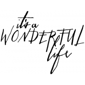 Tim Holtz Wood Mounted Stamp - Written Wonderful Life M3-2444