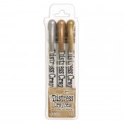 Tim Holtz Distress Crayons Set: Metallics TDBK58700