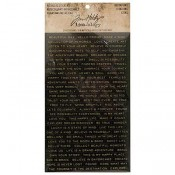 Tim Holtz Idea-ology Metallic Stickers: Quotations - TH93559