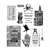 Tim Holtz Cling Mount Stamps - Mini Halloween #5 CMS275