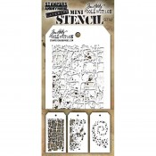 Tim Holtz Mini Layering Stencil Set #43: MST043