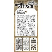 Tim Holtz Mini Layering Stencil Set #6 - MTS006