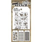 Tim Holtz Mini Layering Stencil Set #22 - MTS022