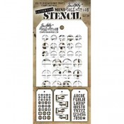 Tim Holtz Mini Layering Stencil Set #29 - MTS029