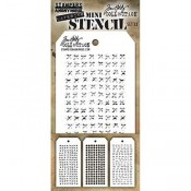 Tim Holtz Mini Layering Stencil Set #33 - MST033