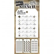 Tim Holtz Mini Layering Stencil Set #40: MST040