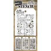 Tim Holtz Mini Layering Stencil Set #41: MST041