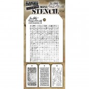 Tim Holtz Mini Layering Stencil Set #48: MST048