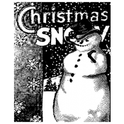 Tim Holtz Wood Mounted Stamp - The Snowman P1-1189
